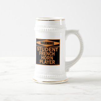 Warning! Student French Horn Player! Beer Stein