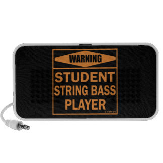 Warning! Student String Bass Player! Mp3 Speakers