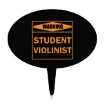 Warning! Student Violinist! Cake Toppers