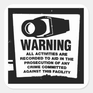 Warning Surveillance Sign Stickers