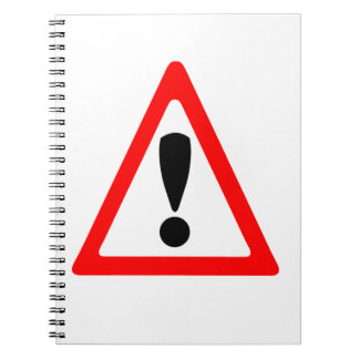 Warning Symbol Notebook