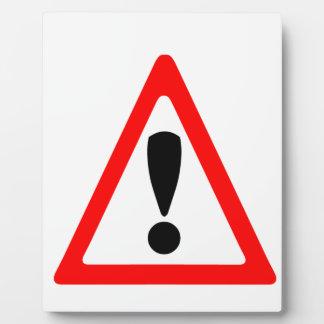 Warning Symbol Plaque