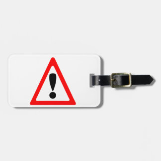 Warning Symbol Tag For Luggage