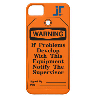 Warning Tag iPhone SE/5/5s Case