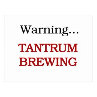 Warning Tantrum Brewing Tshirts and Gifts Postcard