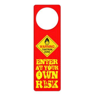 WARNING:  Tantrum Zone Door Hanger