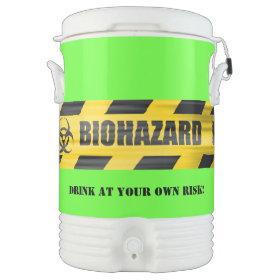 Warning Tape Custom Party Igloo Beverage Dispenser