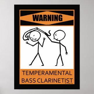 Warning Temperamental Bass Clarinetist Print