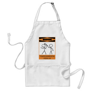 Warning Temperamental Fiddler Aprons