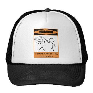 Warning Temperamental Guitarist Mesh Hat