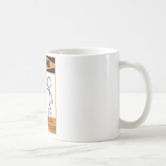 Warning Temperamental Harmonica Player Classic White Coffee Mug