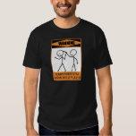Warning Temperamental Harmonica Player T-Shirt