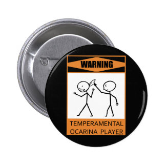 Warning Temperamental Ocarina Player Button