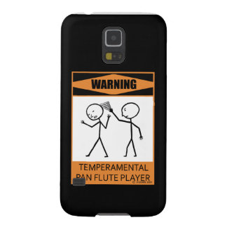 Warning! Temperamental Pan Flute Player Case For Galaxy S5
