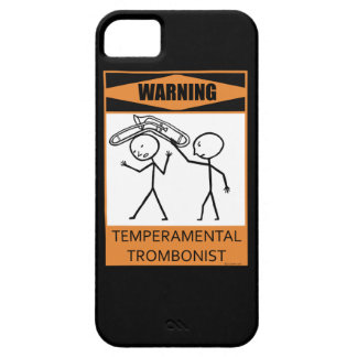 Warning! Temperamental Trombonist iPhone SE/5/5s Case