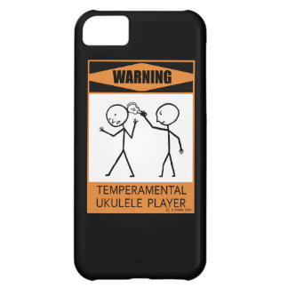 Warning! Temperamental Ukulele Player iPhone 5C Cover