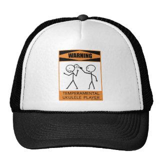 Warning Temperamental Ukulele Player Trucker Hat