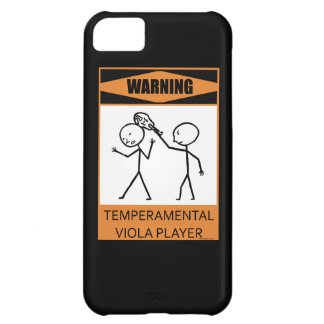 Warning! Temperamental Viola Player iPhone 5C Case