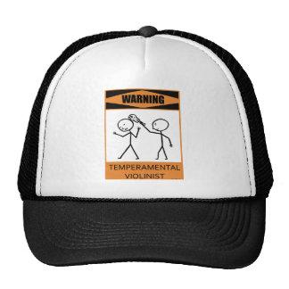 Warning Temperamental Violinist Trucker Hat