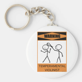 Warning Temperamental Violinist Keychain