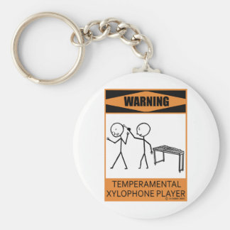 Warning Temperamental Xylophone Player Key Chains