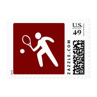 Warning: Tennis Game Sign Red Stamp