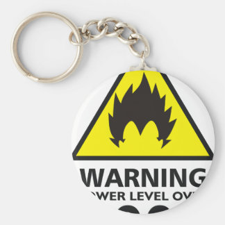 Warning the power its over 9000 llavero redondo tipo pin