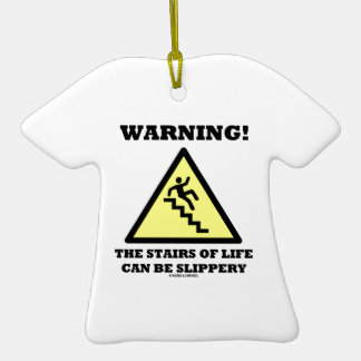 Warning! The Stairs Of Life Can Be Slippery Christmas Ornament