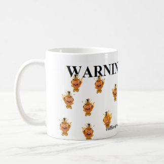 WARNING: This coffee is hot with flaming pygmies Coffee Mug