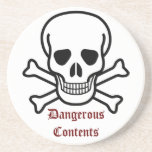 Warning This Drink May Be Hazardous to Your Health Beverage Coaster