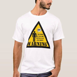 Warning This person may talk about reptiles T-Shirt