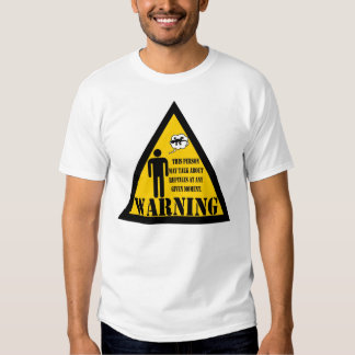Warning This person may talk about reptiles Tee Shirt