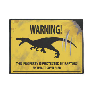 Warning! This Property is Protected by Raptors Doormat