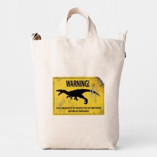 Warning! This Property is Protected by Raptors! Duck Bag