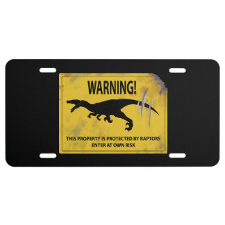 Warning! This Property is Protected by Raptors License Plate