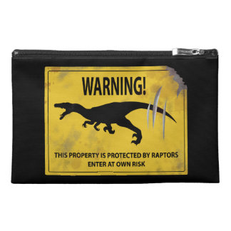 Warning! This Property is Protected by Raptors Travel Accessory Bag