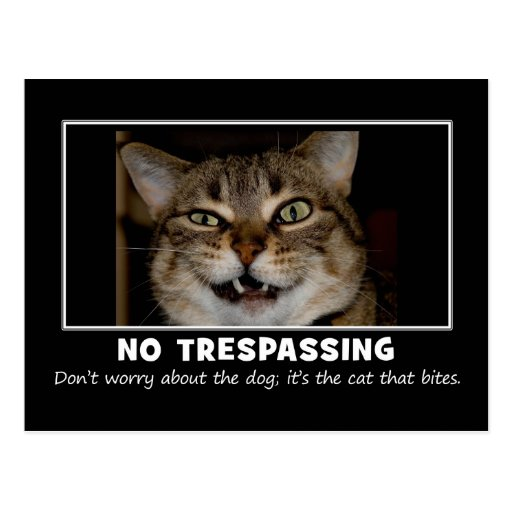 Warning to All Trespassers and Solicitors Postcard