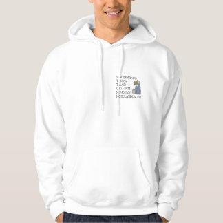 Warning to organists hooded sweatshirt