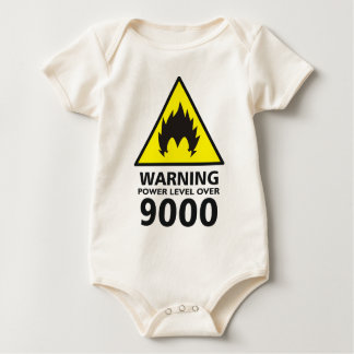 Warning to power its to over 9000 baby bodysuit