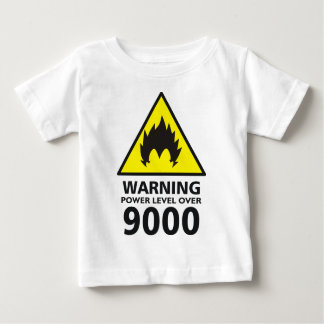 Warning to power its to over 9000 baby T-Shirt