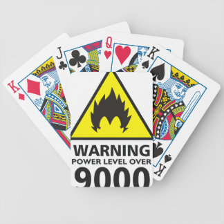 Warning to power its to over 9000 bicycle playing cards