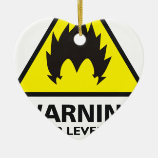 Warning to power its to over 9000 ceramic ornament