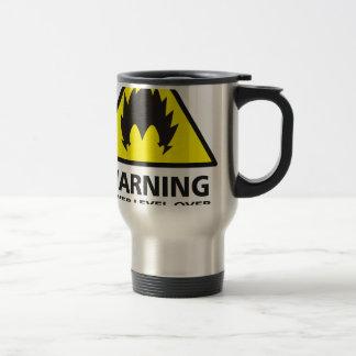 Warning to power its to over 9000 travel mug