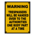 Warning Trespassers Print