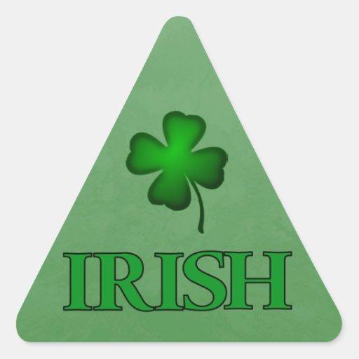 Warning Triangle Sticker IRISH