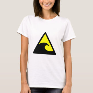 Warning Tsunami Wave Sign T-Shirt