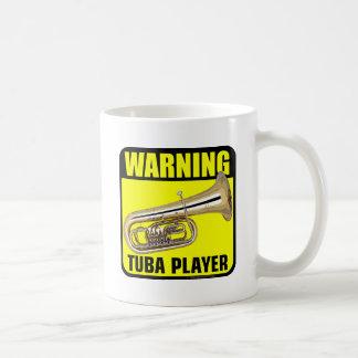 Warning Tuba Player Classic White Coffee Mug