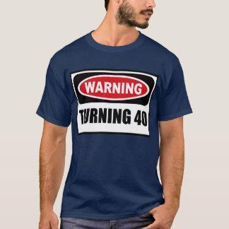 Warning TURNING 40 Men's Dark T-Shirt