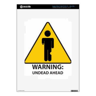Warning Undead Ahead Skin For iPad 3
