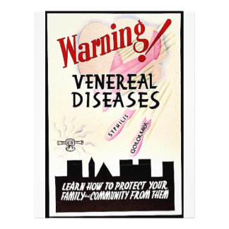Warning Venereal Diseases Flyer